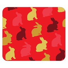 Hare Easter Pattern Animals Double Sided Flano Blanket (small)