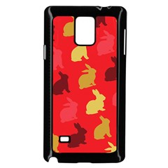 Hare Easter Pattern Animals Samsung Galaxy Note 4 Case (black)