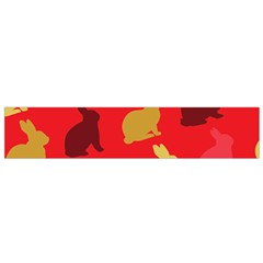 Hare Easter Pattern Animals Flano Scarf (small)
