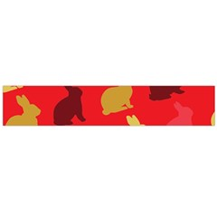 Hare Easter Pattern Animals Flano Scarf (large)
