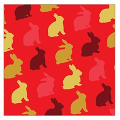 Hare Easter Pattern Animals Large Satin Scarf (square)