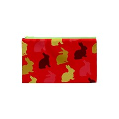 Hare Easter Pattern Animals Cosmetic Bag (xs)
