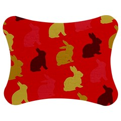 Hare Easter Pattern Animals Jigsaw Puzzle Photo Stand (bow)