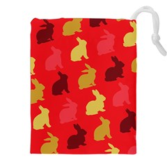 Hare Easter Pattern Animals Drawstring Pouches (xxl)