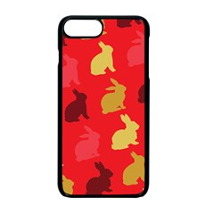 Hare Easter Pattern Animals Apple Iphone 7 Plus Seamless Case (black)