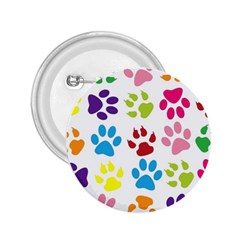 Paw Print Paw Prints Background 2.25  Buttons