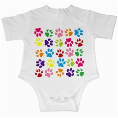 Paw Print Paw Prints Background Infant Creepers