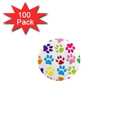 Paw Print Paw Prints Background 1  Mini Magnets (100 Pack)