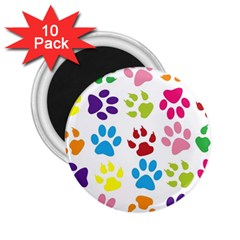 Paw Print Paw Prints Background 2 25  Magnets (10 Pack)