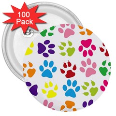 Paw Print Paw Prints Background 3  Buttons (100 Pack)