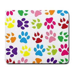 Paw Print Paw Prints Background Large Mousepads