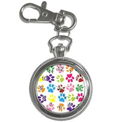 Paw Print Paw Prints Background Key Chain Watches
