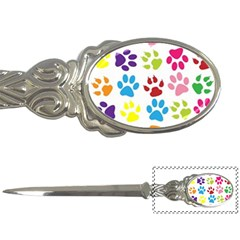 Paw Print Paw Prints Background Letter Openers