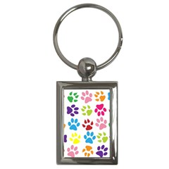 Paw Print Paw Prints Background Key Chains (rectangle)