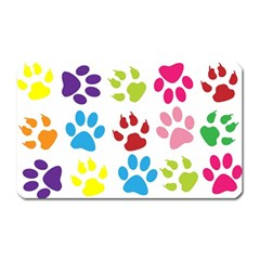 Paw Print Paw Prints Background Magnet (Rectangular)
