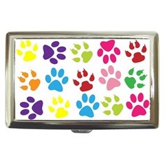 Paw Print Paw Prints Background Cigarette Money Cases