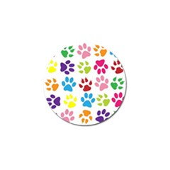 Paw Print Paw Prints Background Golf Ball Marker (4 Pack)