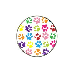 Paw Print Paw Prints Background Hat Clip Ball Marker