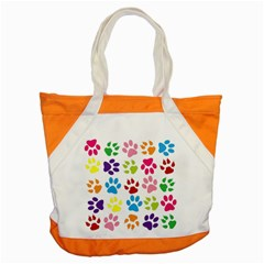 Paw Print Paw Prints Background Accent Tote Bag