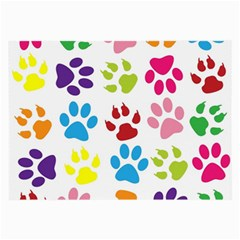 Paw Print Paw Prints Background Large Glasses Cloth