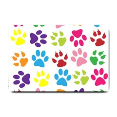 Paw Print Paw Prints Background Small Doormat