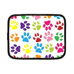 Paw Print Paw Prints Background Netbook Case (small)