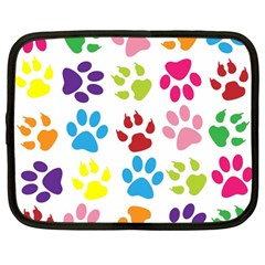 Paw Print Paw Prints Background Netbook Case (large)
