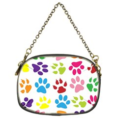 Paw Print Paw Prints Background Chain Purses (one Side)
