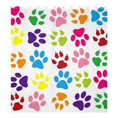 Paw Print Paw Prints Background Shower Curtain 66  X 72  (large)