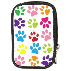 Paw Print Paw Prints Background Compact Camera Cases
