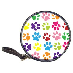 Paw Print Paw Prints Background Classic 20 Cd Wallets