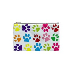 Paw Print Paw Prints Background Cosmetic Bag (small)
