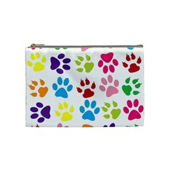 Paw Print Paw Prints Background Cosmetic Bag (medium)