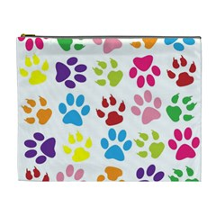 Paw Print Paw Prints Background Cosmetic Bag (xl)