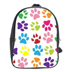 Paw Print Paw Prints Background School Bags(large)