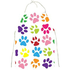 Paw Print Paw Prints Background Full Print Aprons