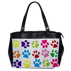 Paw Print Paw Prints Background Office Handbags
