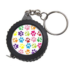 Paw Print Paw Prints Background Measuring Tapes