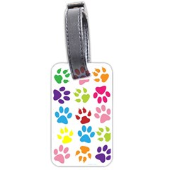 Paw Print Paw Prints Background Luggage Tags (Two Sides)