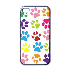 Paw Print Paw Prints Background Apple Iphone 4 Case (black)