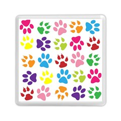 Paw Print Paw Prints Background Memory Card Reader (square)