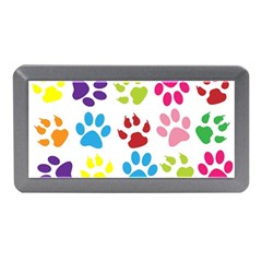 Paw Print Paw Prints Background Memory Card Reader (mini)
