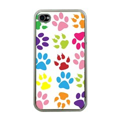 Paw Print Paw Prints Background Apple Iphone 4 Case (clear)