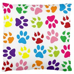 Paw Print Paw Prints Background Large Cushion Case (One Side)
