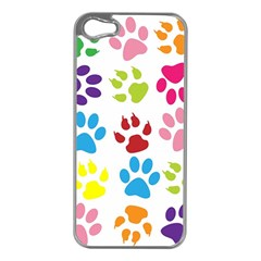 Paw Print Paw Prints Background Apple Iphone 5 Case (silver)