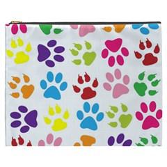 Paw Print Paw Prints Background Cosmetic Bag (xxxl)