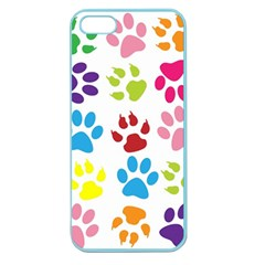 Paw Print Paw Prints Background Apple Seamless Iphone 5 Case (color)