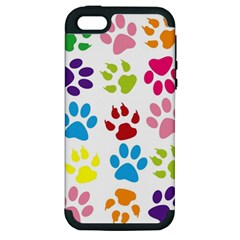 Paw Print Paw Prints Background Apple Iphone 5 Hardshell Case (pc+silicone)