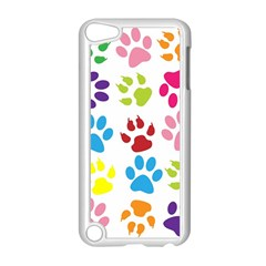 Paw Print Paw Prints Background Apple Ipod Touch 5 Case (white)