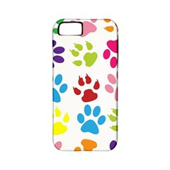 Paw Print Paw Prints Background Apple Iphone 5 Classic Hardshell Case (pc+silicone)